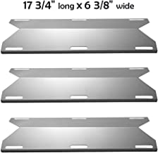YIHAM KS745 BBQ Heat Shields for Jenn-air Grill Parts 720-0061-LP, 720-0336, 730-0336 Heat Plate Flame Tamer Replacement for Nexgrill, Glen Canyon, 17 3/4 inch x 6 3/8 inch, Stainless Steel, Set of 3
