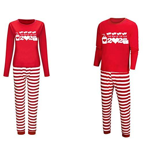 Pijama para parejas – cálido y con textura suave rojo y blanco