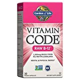 Jardín de vida – Vitamina B12 1000 mcg – Raw de código de vitamina B12 Whole Food Supplement, 30 Cápsulas