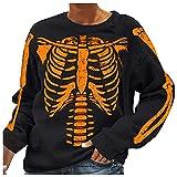Halloween Pullover Damen, Dasongff Sweatshirt Rundhals Tops Bluse Shirt Tunika Bluse Streetwear...