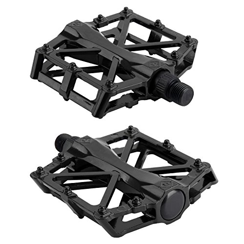 MultiWare Mountain MTB BMX Bike Bicycle Bearing Alloy Flat-Platform Pedals 9/16 inch Black