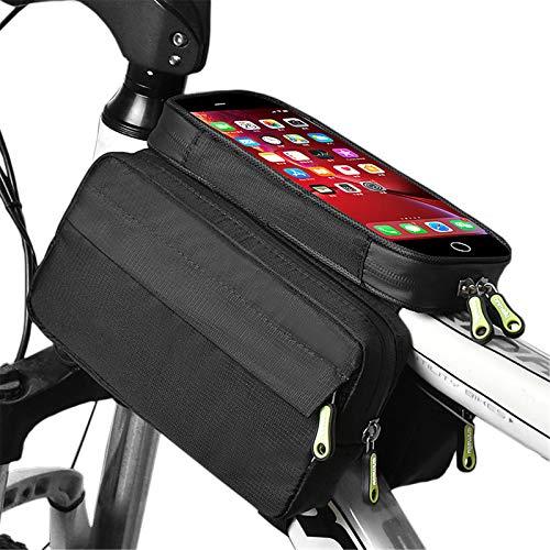 Bolsa De Teléfono Móvil De La Bicicleta A Prueba De Agua, Bolsa De Teléfono Móvil Con Pantalla Táctil, Soporte Para Teléfono Móvil, Espacio De Almacenamiento Grande, Para Pantalla De 6,5 Pulgadas
