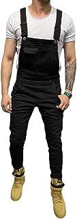 Shawnlen Salopette da Uomo Salopette Pantaloni di Jeans Jeans da Motociclista Camicie da Lavoro Casual retrò da Combattimento