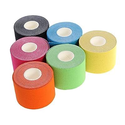 WINOMO Elastische Pflasterverband Fixierbinde 6 Farben