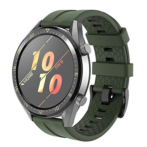 NotoCity Armband für Huawei Watch GT 2 (46 mm)/Huawei Watch GT/Huawei Watch GT 2e, 22mm Silikon Quick-Fit Ersatz Armbänder