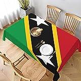 Tischdecke,St. Kitts & Nevis Flagge, waschbare Tischdecke für Küche, Abendessen, Tischplatte, Dekoration Parteien, Hochzeiten, Weihnachten 152 x 228cm