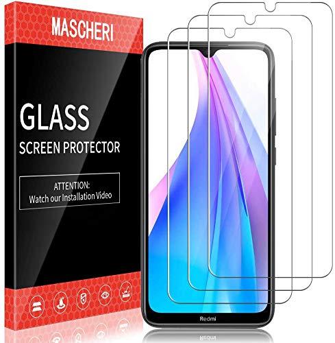 MASCHERI schutzfolie für Xiaomi Redmi Note 8T Schutzfolie 3 Stück 9H Härte Panzerglasfolie Blasenfrei Displayschutzfolie