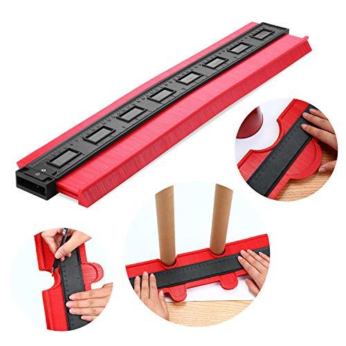 ENJOHOS Konturenlehre Fliesen Laminat Duplikator Holz Markierungswerkzeug Fliesen Laminatfliesen Allgemeine (20 Zoll, Rot)