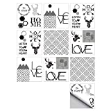 MXZJ Stickers muraux Autocollants Autocollant de la Maison de Style Simple TV Wall...