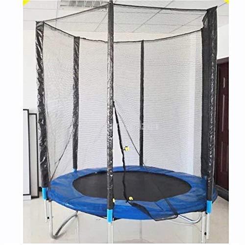 Dasiudaiosud De Haute qualité Trampoline Pratique 6 Pieds sécurité Filet de Protection Safe Jump Bundle sécurité Printemps avec l'échelle Charge Poids 250 kg Home Fitness Trampoline