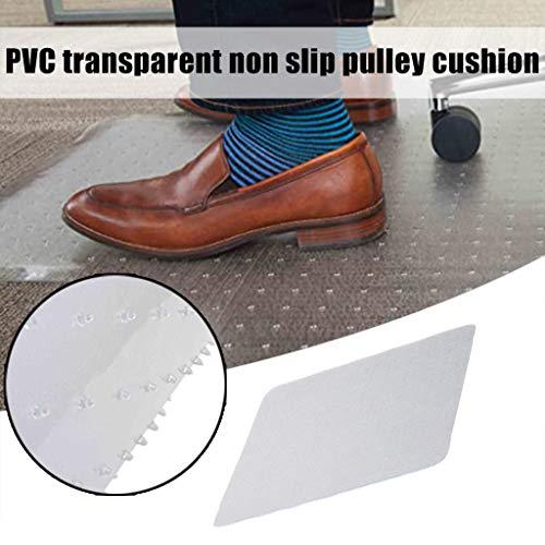 Hard Floor Chair Mat Transparent PVC Protective Mat, Office Chair Mat for Carpeted Floors PVC Hard Wood Floor Protector Anti-Slip Heavy Duty Chair Mat for Home Office