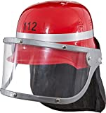 Faschingskostüm Kinder Feuerwehrhelm rot