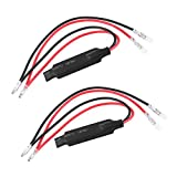 2 Pcs 10W LED Light Load Resistor In-line Motorcycle Resistors LED Turn Signal Indicator Fix Error Flash Controller