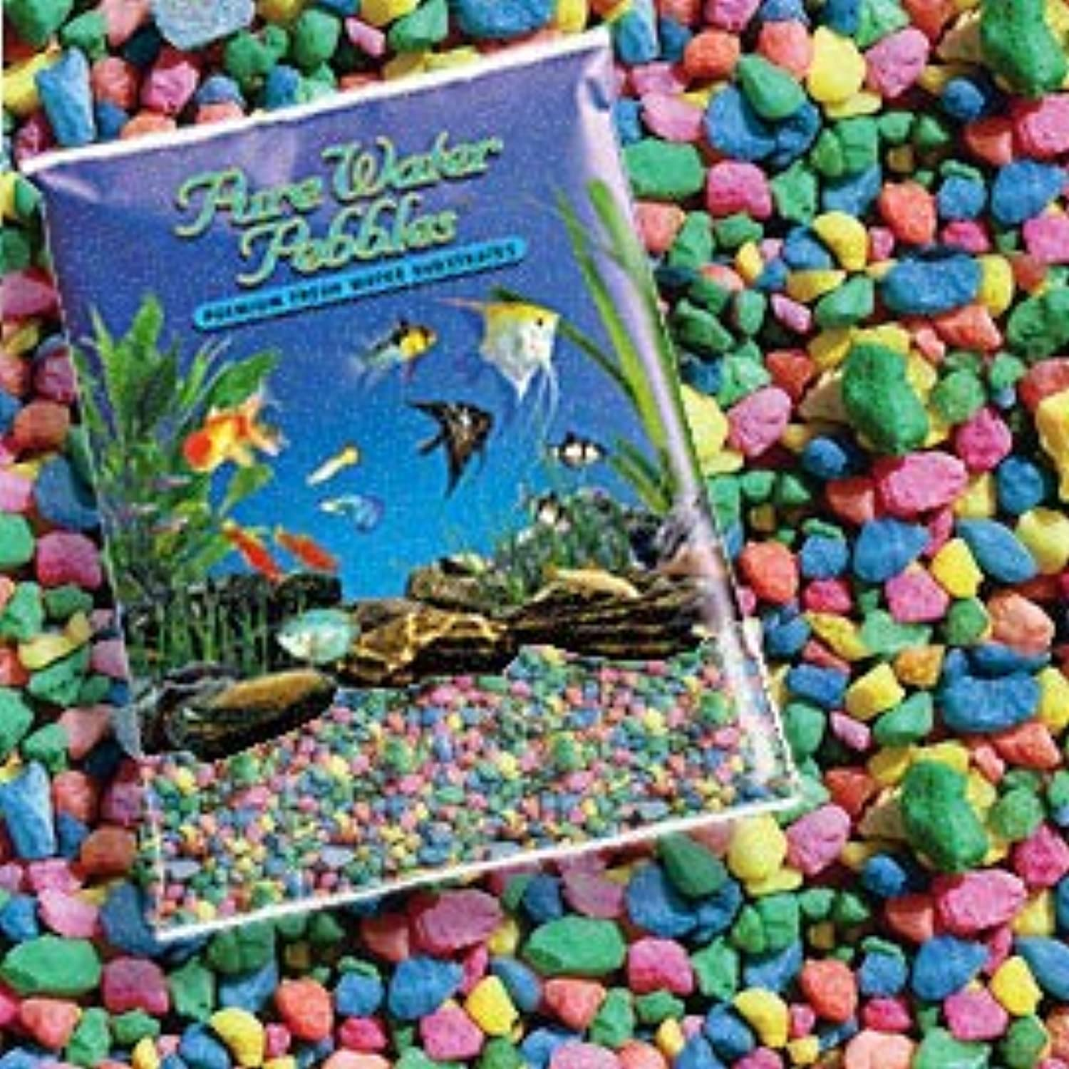 Pure Water Pebbles Nature's Ocean Aquarium Pebbles NEON Rainbow Gravel, 5LB