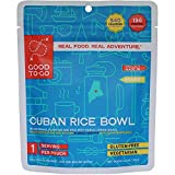 GOOD TO-GO Cuban Rice Bowl - Single Serving | Dehydrated Backpacking and Camping Food | Lightweight | Easy to Prepare