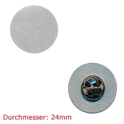 10 pinnen onbewerkte 24 mm (nieuw) blanco metalen button badge pin aansteker 0811