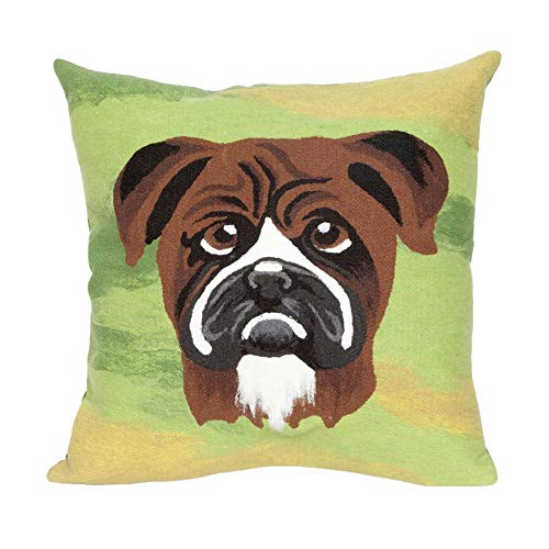 Liora Manne Trans Ocean Imports 4175/06 Rusty Green 20 Sq Pillow