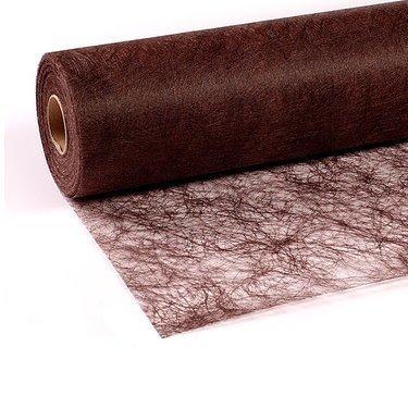 25 m x 30 cm Sizoflor® Vlies Original Tischband Tischläufer schokobraun braun dunkelbraun für Hochzeit, Weihnachten....