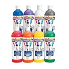 Colorations - SWTRPP Simply Washable Tempera Paint, Rainbow Plus 8 Pack (16 oz. Each) –Easily Washes Off –Vibrant Colors, Rich Coverage -Dries to a Matte Finish –, Economical Classroom Paint