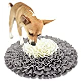 Laicve Pet Slow Food pad,Puppy Cat Interactive Puzzle Toys Funny Foldable Blanket Durable and Machine Washable,Perfect for Cats and Dogs to Play