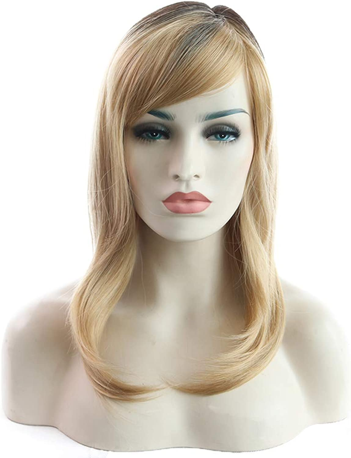 Women's Sexy Long Fancy Dress Wigs Cosplay Costume Ladies Full Wig Party Blonde