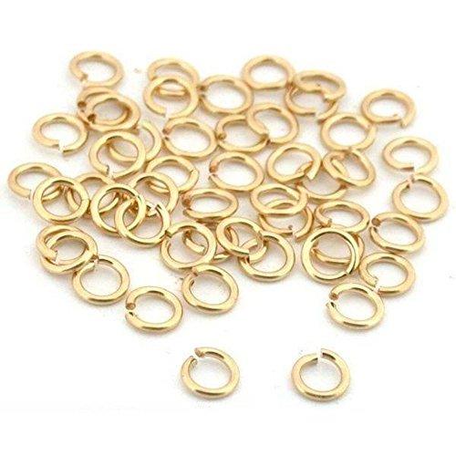 SPARIK ENJOY 25 Jump Rings 14K Gold Filled Open Jewelry 22 Gauge 3mm