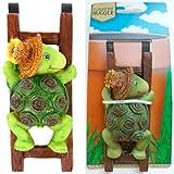 Flower Pot - Hugger Figurine - Turtle (2 Pcs) Garden Decor - Get All The Fun Collections of Pot Pal Climbers - Hanging Planter Decorations - Patio Decor - Yard Decor