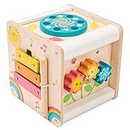 Le Toy Van Petilou Activity Cube Learning Set Premium Wooden Toys for Kids Ages 12 Months & Up