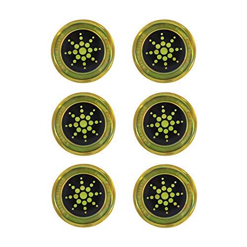 REAMTOP EMF Schutzaufkleber Anti-Strahlung Shield Protector für Handys, iPad, Laptop, Tablet, Mikrowelle - Strahlungsneutralisierer (Gold)