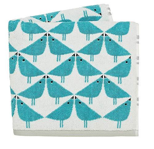 Scion Lintu - Toallas de baño, Color Verde Azulado, 100% algodón de 550 g, 70 x 130 cm 🔥