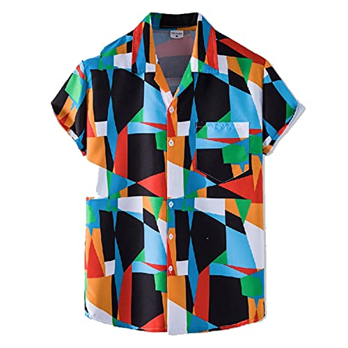 SSBZYES Camisas para Hombre Camisas De Verano De Manga Corta Camisetas para Hombre Camisas Estampadas para Hombre Camisas Finas con Cuello De Traje para Hombre Camisas Florales De Manga Corta