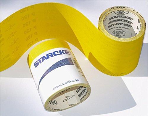 STARCKE Schleifpapier, Aluminiumoxid-Rollen. Schleifpapier. 5m. Alle Körnungen erhältlich: Grob, Medium, fein 6080120180240320400