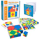 Wooden Kid's Educational Toys Pixy Cube Blocks Space Thinking Shape Jigsaw Puzzles Sorting...