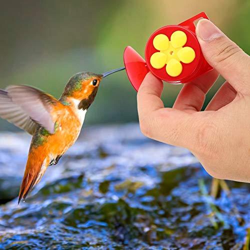 Hoseten Kolibri-Futterautomat, Kleiner handgehaltener Wildvogel-Futterautomat in leuchtenden Farben, 2 Stück für Vögel im Freien Fütterungswerkzeug Vogel-Heimdekoration
