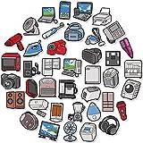 CHUDU Electrodomésticos Doodle Pegatinas de Dibujos Animados Pegatinas de Necesidades diarias Caja de monopatín portátil Coche Oferta 40 Uds