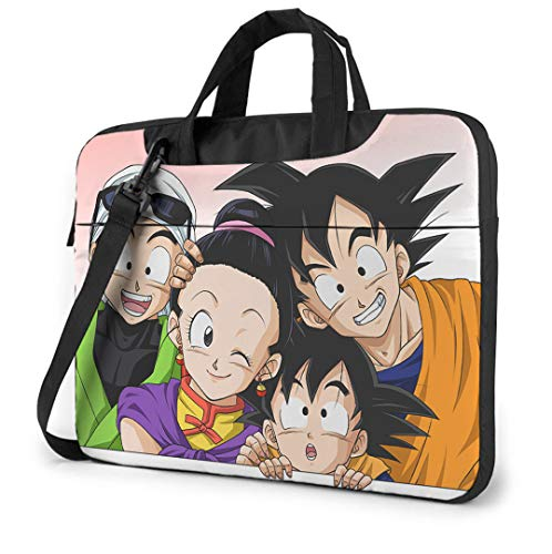 Dragon Ball Z 15.6 Inch Laptop Bag, Laptop Case Laptop Shoulder Bag with Zipper and Pockets, Laptop Sleeve Shoulder Bag for Women and Men, Anime Saiyan Handbag