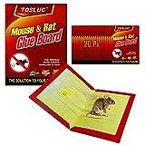 TOSLUC Piege a Souris avec Colle pour Souris Super Adhesif plus fort pour capture d'intérieur et d'extérieur Lot de 20 Piege topicide professionnel non électrique, souris domestiques, rats