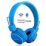 Cuffie Bluetooth Senza Fili per Bambini con Microfono + Controller Volume, Stereo Cuffie Auricolari Pieghevoli con condivisione Musica per Giochi Cellulari Smartphone Tablet PC da Termichy (Blue)