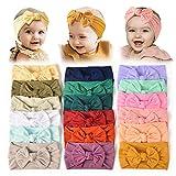 18PCS Baby Nylon Headbands Hairbands Hair Bow Elastics for Baby Girls Newborn Infant Toddlers Kids...