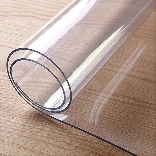 Gorgebuy Mantel Transparente Transparente de PVC, Protector de la Tabla Personalizable, Prueba de la Grasa Scratch Resistente a Prueba de Agua Toalla de Mesa Redonda