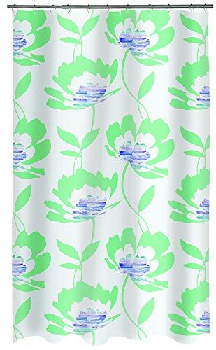 Spirella PEVA Blossom Green 180x200 cm douchegordijn, plastic, groen, 180 x 200 cm