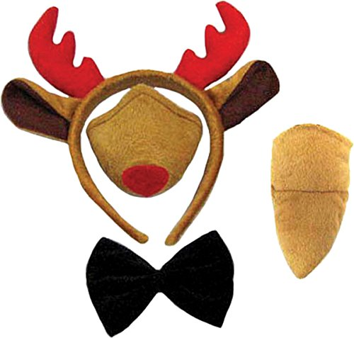 Reindeer Set (Ears, Nose, Tail + Bow Tie)