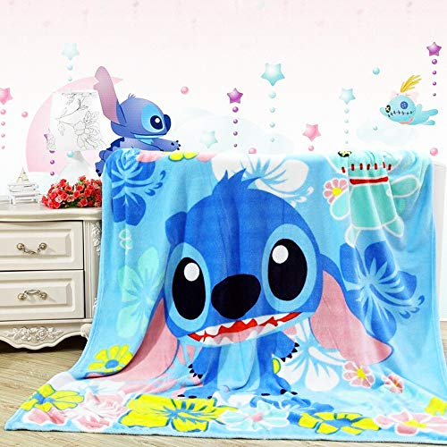 FairyShe Plush Blanket Kids Cartoon Stitch Throw...