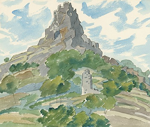 Sulis Fine Art Ernest Fedarb NS (1905-2005) - Acuarela del Siglo XX, Castillo de Edimburgo