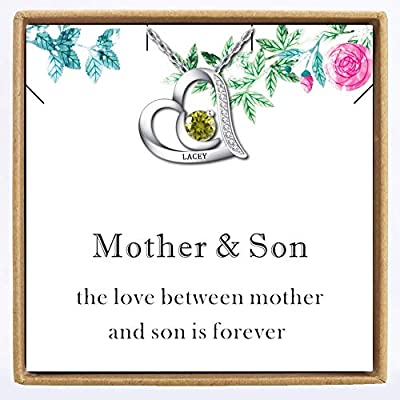 Mother Daughter Necklace Personalized, Customiz...