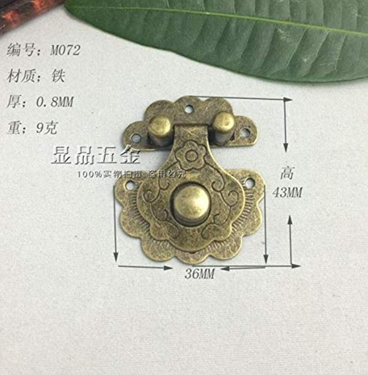 43  36mm Gift Buckle Gift hasp Decorative Buckle Hinge Buckle Wholesale  (color  Bronze)