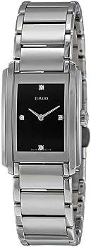 Rado Integral Black Dial Stainless Steel Ladies Watch