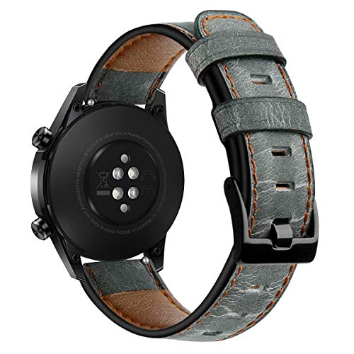 CAVN 22mm Armbänder Kompatibel mit Samsung Galaxy Watch 3 45mm /Galaxy Watch 46mm /Huawei GT 2 46mm /HONOR Magic Watch 2 46mm Leder Armband, Verstellbares Ersatz Armbänder für Galaxy 3 45mm 46mm /GT 2