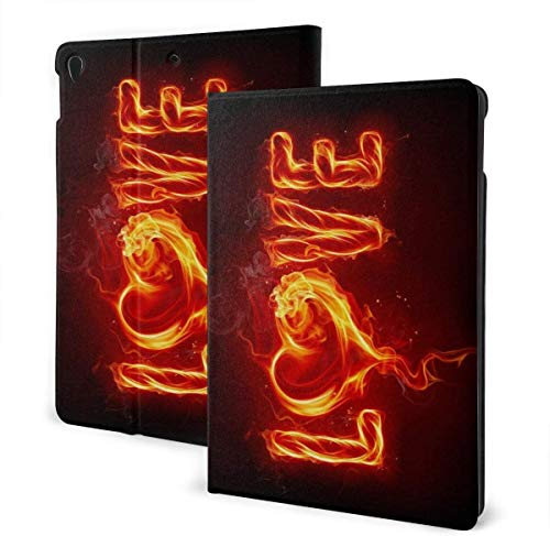 Cool USA Dollar Bill Case for Ipad Air 3rd Gen 10.5' 2019 / Ipad Pro 10.5' 2017 Multi-Angle Folio Stand Auto Sleep/Wake for Ipad 10.5 Inch Tablet-Love Of Red Flame-One Size