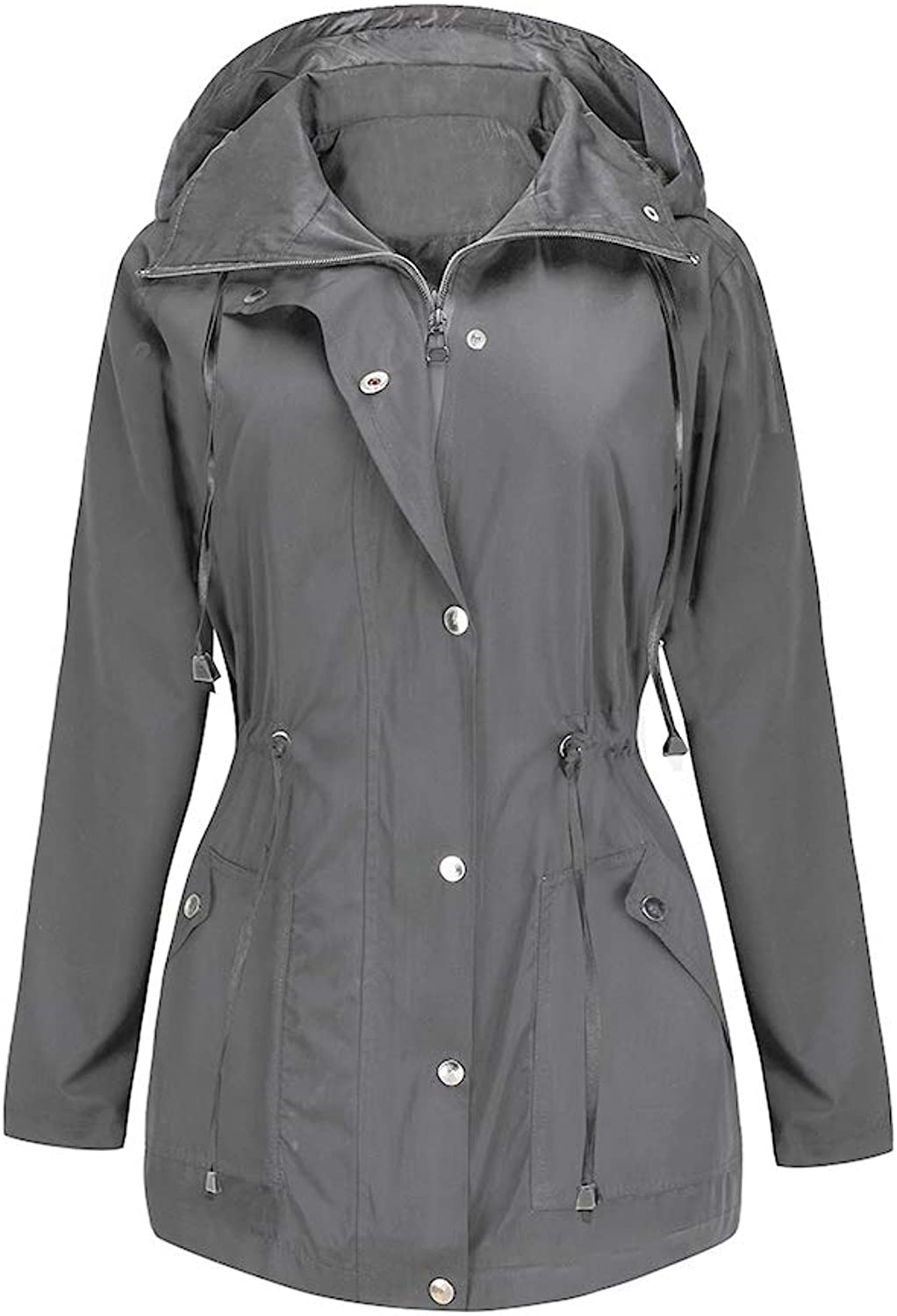 BBX Lephsnt Rain Jacket Women Waterproof with Hood Lightweight Raincoat Outdoor Windbreaker